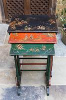 Nest of Three Japanned Occasional Tables