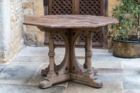 Gothic Revival Oak Pugin Table