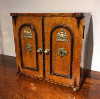 Oak Writing Cabinet