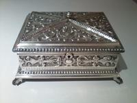 Silver Plated Table Humidor Box