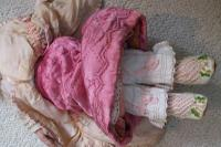 Rare Antique Apprentice Piece Costume Fabric Doll - All Hand Stitched (9 of 12)