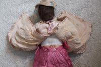 Rare Antique Apprentice Piece Costume Fabric Doll - All Hand Stitched (8 of 12)