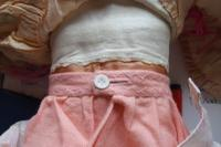 Rare Antique Apprentice Piece Costume Fabric Doll - All Hand Stitched (4 of 12)