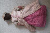 Rare Antique Apprentice Piece Costume Fabric Doll - All Hand Stitched (7 of 12)