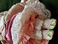 Rare Antique Apprentice Piece Costume Fabric Doll - All Hand Stitched (10 of 12)