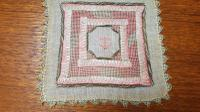 2 X Georgian Embroidered Squares, Silk, Linen, Gold Thread, Anchors (5 of 5)