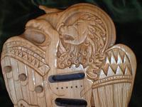 Hand Carved Celtic Design Guitar by Scottish Sculptor Alan Lees