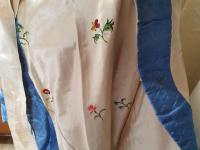 Georgian Hand Embroidered Sprigged Silk Satin Christening Cape (9 of 11)