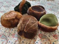 Five 1950s Fur Trimmed Period Hats in Mink, Beaver Lamb, Fox
