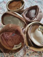 Ten True Vintage 1950s Straw, Velvet & Feather Trimmed Hats (3 of 8)