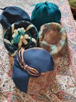 Ten True Vintage 1950s Straw, Velvet & Feather Trimmed Hats (5 of 8)