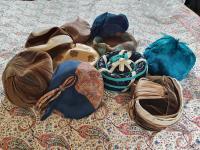 Ten True Vintage 1950s Straw, Velvet & Feather Trimmed Hats (6 of 8)