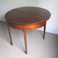 Mahogany Demi-Lune Tea Table c.1820 (4 of 6)