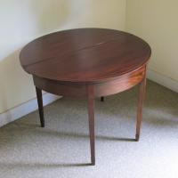 Mahogany Demi-Lune Tea Table c.1820 (3 of 6)