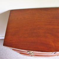 Mahogany Bow Front Chest of Drawers (7 of 7)