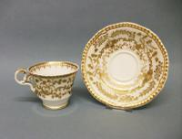 Spode Gadroon Shape Coffee Cup & Saucer c.1825-1830