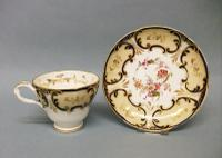 Attractive Ridgway Coffee Cup & Saucer c.1845