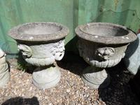 Antique Concrete Garden Urns c.1900