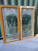 French Etched Glass Panels c.1880