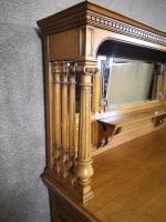 Large & Impressive Edwardian Light Oak Mirror Back Sideboard by Maple & Co (9 of 16)