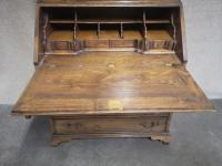 Good Quality Reproduction Oak Bureau Bookcase in the Georgian Style (6 of 11)