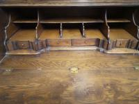 Good Quality Reproduction Oak Bureau Bookcase in the Georgian Style (7 of 11)