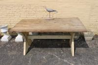 19th Century French Cross Leg Country Pine Table