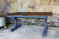 Antique Gothic Style Pitch Pine Table
