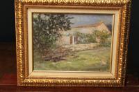 "E. Gentry ""Provence"" Impressionist Oil on Board"