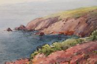 "E Fairweather ""Coastal Scene"" Watercolour Early 20th C."