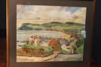 Robin Hoods Bay Watercolour Signed Inglis