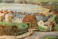 Robin Hoods Bay Watercolour Signed Inglis (3 of 4)