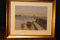 West Country Harbour, Pastel Signed F Chenoweth 1950 (2 of 4)