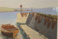 West Country Harbour, Pastel Signed F Chenoweth 1950 (3 of 4)