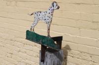 Folk Art Dalmatian Boot Scraper C1930's (3 of 5)