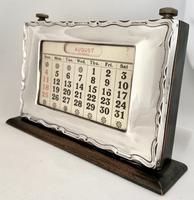 Art Deco Silver Mounted Desk Calendar