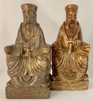 Pair of Chinese Soapstone Buddhist Figures c.1910