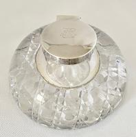 Substantial Silver Mounted Inkwell 1896