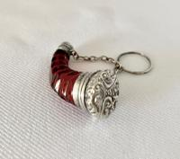 Cranberry & Silver Perfume Scent Bottle c.1890 (7 of 7)