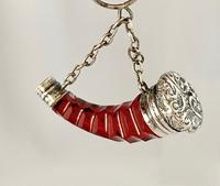 Cranberry & Silver Perfume Scent Bottle c.1890 (2 of 7)