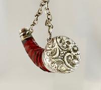 Cranberry & Silver Perfume Scent Bottle c.1890 (6 of 7)