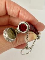 Cranberry & Silver Perfume Scent Bottle c.1890 (3 of 7)
