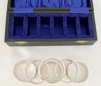 Sterling Silver Napkin Rings Inscribed with Religious Texts. Birmingham 1965 (3 of 7)