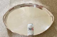 Large Good Quality Late Victorian Silver Plated Tray (8 of 8)