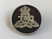 WW1 Era Sterling Silver & Tortoiseshell Sweetheart Brooch - Royal Artillery - 1919