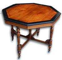 Victorian Mahogany & Ebonised Occasional Table