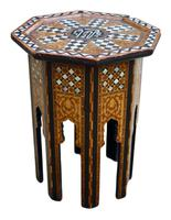 Early 20th Century Islamic Side Table with Mother of Pearl Inlay