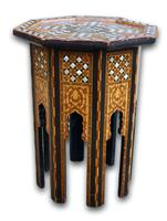 Early 20th Century Islamic Side Table with Mother of Pearl Inlay (4 of 4)