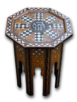 Early 20th Century Islamic Side Table with Mother of Pearl Inlay (2 of 4)