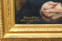 Early 19th Century Oil on Canvas Portrait of 4th Earl of Buckinghamshire (2 of 5)